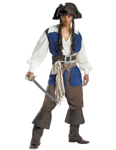 [Captain Jack Sparrow Deluxe Teen Costume, Medium] (Jack White Halloween Costume)