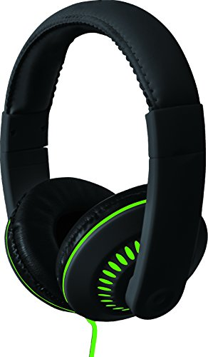 Coby CVH-811-GRN Melody Stereo Headphones with Built-In Mic, Green