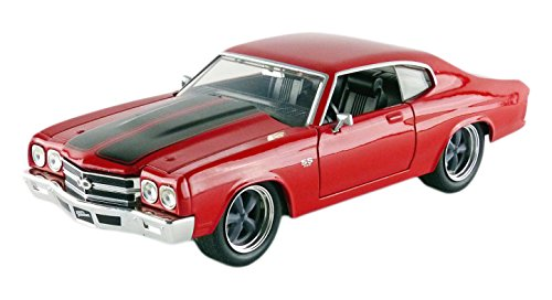 Fast & Furious 1:24 1970 Dom's Chevy Chevelle SS Die-cast Car, Toys for Kids and Adults