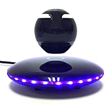 Signstek Wireless Portable 360 Degree Rotating Levitating bluetooth Speaker with Microhone, Black