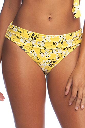 La Blanca Women's Shirred Band Hipster Bikini Swimsuit Bottom, Rise n Shine, 10