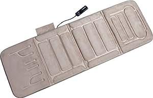 Relaxzen 60-2907P08 10-Motor Vibration Massage Standard Mat with Heat, Beige