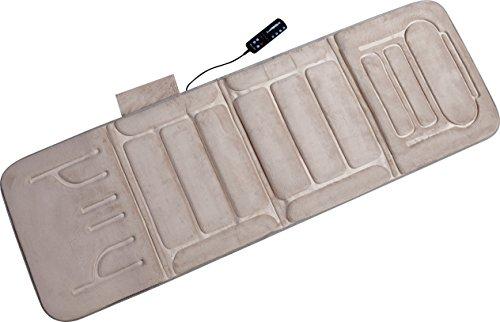 Full Body Massage Mat - Relaxzen 10-Motor Massage Standard Mat with Heat, Beige