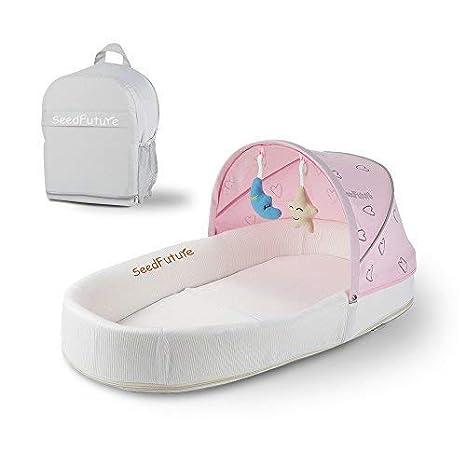 Moisés Bebé, Cuna Colecho Portátil, Nido Para Dormir Recién Nacido (rosado)