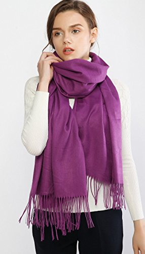 Cashmere Winter Scarf Long Large Soft Warm Pashmina Shawl Wrap for Women and Men by RIIQIICHY (Image #6)