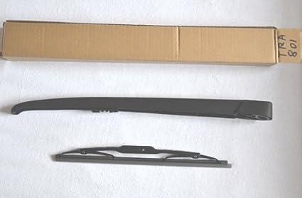 Escobilla limpiaparabrisas trasera y brazo de limpiaparabrisas