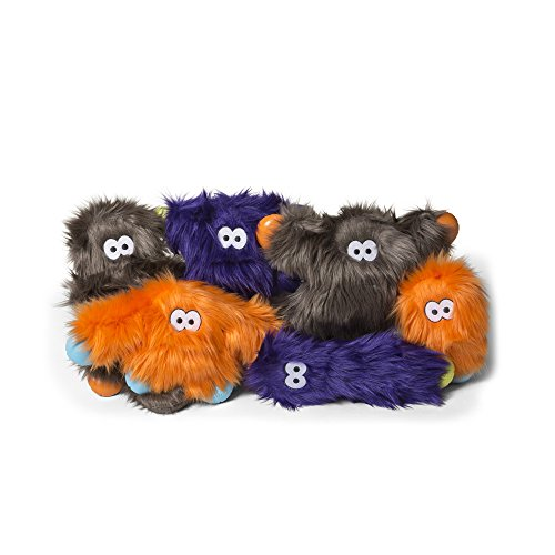 Image of West Paw Rowdies with HardyTex and Zogoflex, Durable Plush Dog Toy for Small to Medium Dogs, Custer, Pewter Fur