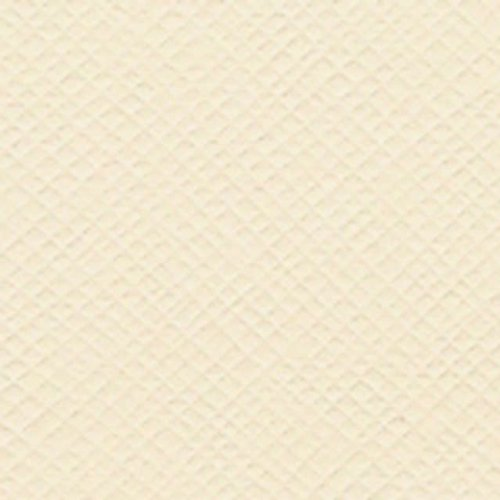 "Bazzill Cardstock 12""X12""-Cream Puff/Criss Cross"