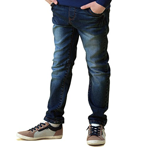 Leo&Lily Big Boys' Jeans, Navy, 12 by Leo&Lily (Image #6)