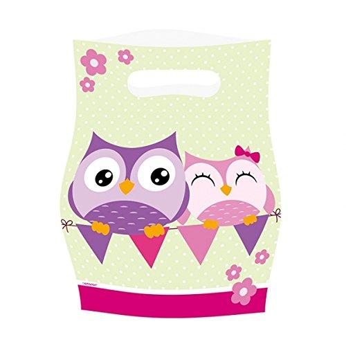 8 Partytüten * EULEN * für Party und Geburtstag // AMSCAN // Kinder Kindergeburtstag Mottoparty loot bags Owl Eule Waldtiere