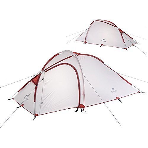 Naturehike NatureHike 2-3人用キャンプ テント アウトドア登山テント ゆったり前室 タープスペース付き二層構造 防雨 防風 防災 B073R6Y5D4 Gray (20D Silicon fabric) Gray (20D Silicon fabric)