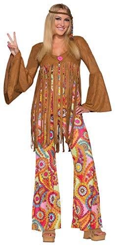 Forum Novelties Women's Groovy Sweetie Hippie Costume, Multi, Medium/Large -