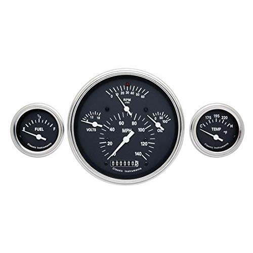 Classic Instruments CH01BSLF 1957 Chevy Black Gauge Package Includes:
