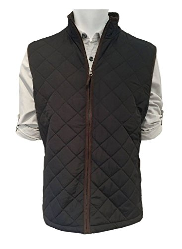 Field & Stream Men's Quilted Full Zip Vest, Black, Small