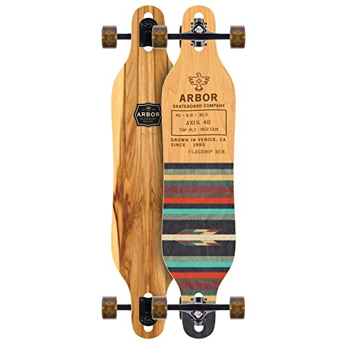 "Arbor Axis 40 Flagship Complete Skateboard, Nocturnal, 40"" L x 8.80"" W x 30.63"" WB"