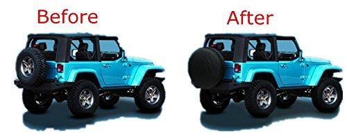 Altopcar Overdrive Universal Fit For Jeep, Trailer, RV, SUV, Truck Spare Tire Cover Black Soft PVC (14''(24''-26'' Dia)) by Altopcar (Image #4)