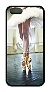 Ballet Point Dance Theme Case for IPhone 5 5S Rubber Material Black by ruishername