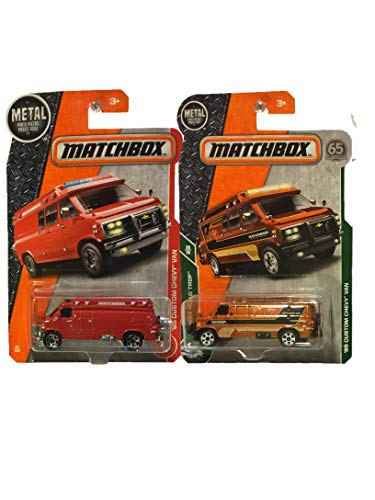MBX Matchbox '95 Custom Chevy Van 2 Pack -