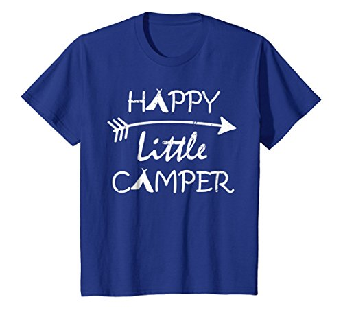 Kids Happy Little Camper T-Shirt Camping Gift -