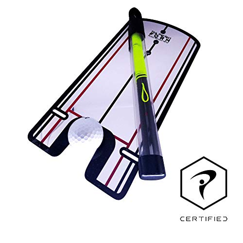 The Perfect Form Golf Putting Mirror Putting String Combo. Portable 2-in-1 Golf Training Aids Combo. Improve Setup, Alignment, Green Reading with Putting Mirror and Putting - Putter Alignment