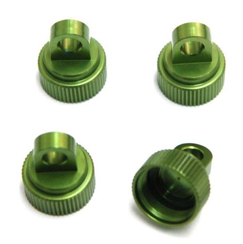ST Racing Concepts ST2267G Aluminum Upper Shock Cap, 4-Piece (Green)