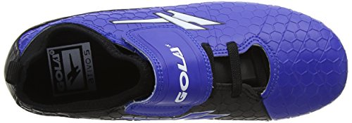 Gola Unisex-Kinder Apex Blade Velcro Fußballschuhe Blau (Blue/black/white)