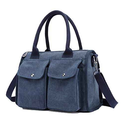 hombro Azul para gris Lona al Bolso de Gris Jnday mujer AwEZ6qR