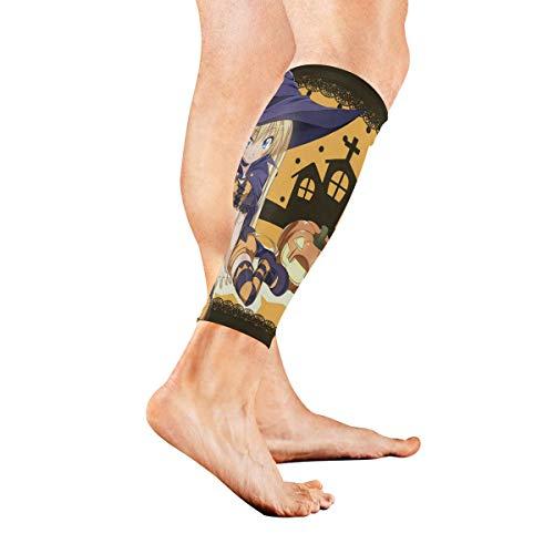 (Leg Sleeve Cool Anime Halloween Wallpaper Compression Socks Support Non Slip Calf Sleeves for Yoga, Running, Shin Splint, Calf Pain Relief, Runners, Medical, Air Travel, Nursing, Cycling)