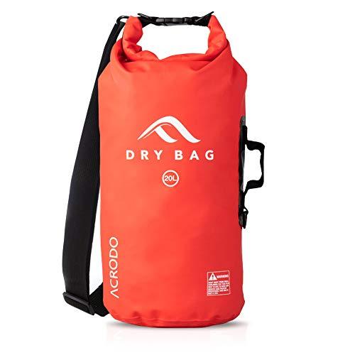 76869dd2b6e Acrodo Dry Bag Transparent   Waterproof - 10   20 Liter Floating Sack for  Beach