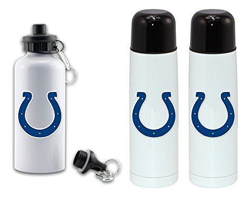 visualize master Double sided disigns colts sports water bottle - High grade vacuum flask 18/8 stainless bottle - 350 ML