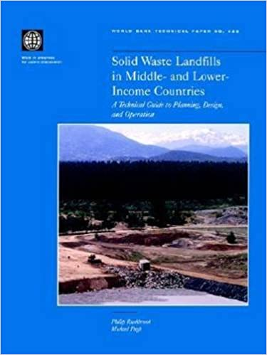 Solid Waste Landfills in Middle- and Lower-Income Countries: A Technical Guide to Planning, Design, and Operation (World Bank Technical Papers)