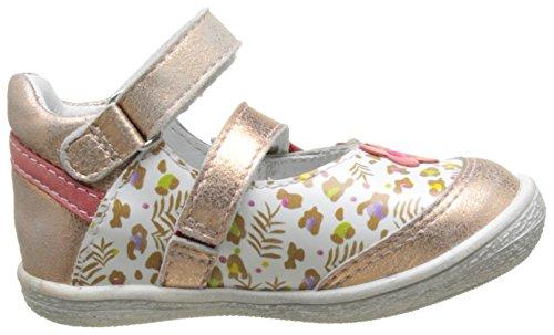 GBB 17E207, Zapatos Mary Jane Bebé Multicolor (Vte Blc Imp-Rose Poudre Dpf/2787)