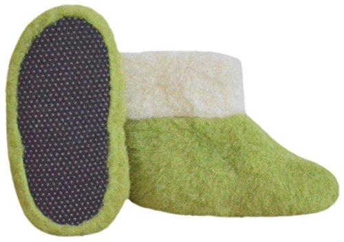 SamWo FW Parent - Zapatillas de estar por casa de Lana para mujer 48 Verde - green pea/natur