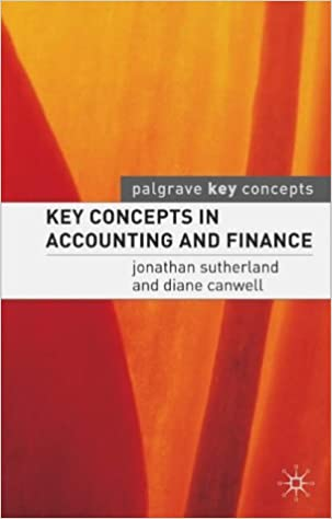 Book Key Concepts in Accounting and Finance (Palgrave Key Concepts)