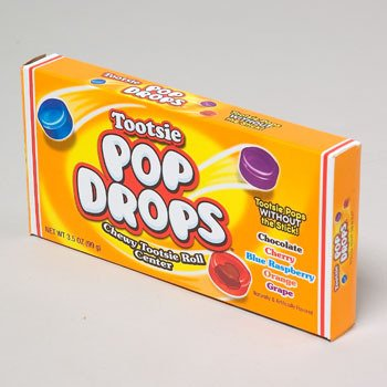 TOOTSIE POP DROPS THEATRE BOX POPS WITHOUT STICK 5 ASST, Case Pack of 72 by DollarItemDirect
