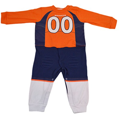 Official National Football League Fan Shop Authentic NFL Baby Team Uniform Romper (Denver Broncos, 12 Months)