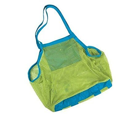 Sysrion? Brand and New Sand Away Beach Mesh Bag Tote (Swim, Toys, Boating. Etc.) Stay Away From Sand -Xl Size (Green)