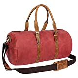 Leather travel bag overnight bag gym bag weekender 19 inch by leather centric