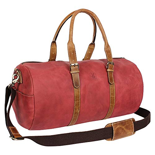 Leather travel bag overnight bag...