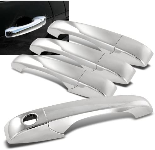 Mirror Chrome Door Handle Cover Cap Trim Kit Compatible with 2005-2011 Dodge Journey Avenger Grand Caravan Caliber Magnum Jeep Patriot Compass Chrysler 300 300C Town /& Country Sebring