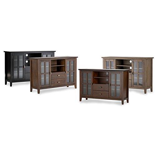 Simpli Home Artisan TV Media Stand for TVs up to 60'', Medium Auburn Brown by Simpli Home (Image #4)'