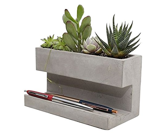 Cement Planter and Pen Holder (Concrete Basket Planter)