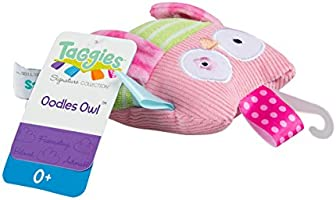Pink Mary Meyer Taggies Oodles Owl Baby Soft Toy Rattle
