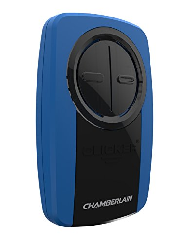 Chamberlain KLIK3U-BL2 KLIK3U Clicker Universal 2-Button Garage Door Opener Remote Works Liftmaster, Craftsman, Genie and More, Security +2.0 Compatible, Includes Visor Clip, Blue
