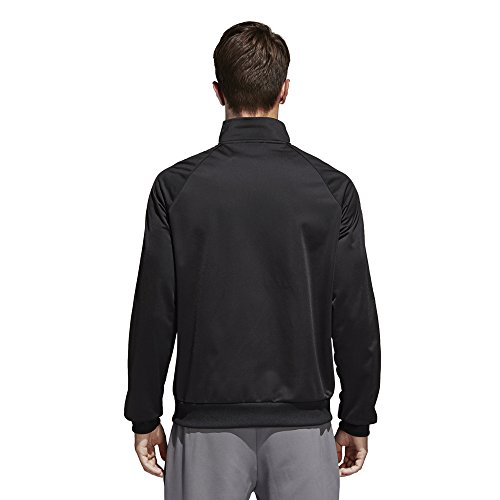 1dbe54d9775f4 adidas Men's Essentials 3-Stripe Tricot Track Jacket, Black/White, Medium