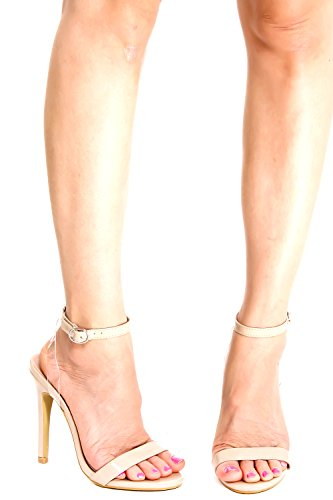 Lolli Couture Diamond Patent Letter Mary Jane Style Gesp Amandel Teen Platform Naaldhak Nudepatent-m01-43