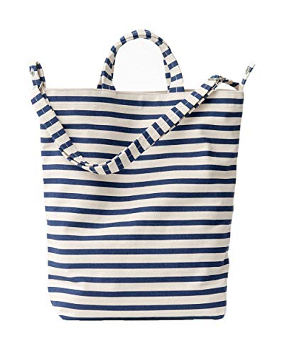 (BAGGU Duck Bag Canvas Tote, Essential Everyday Tote, Spacious and Roomy, Sailor Stripe (2018))