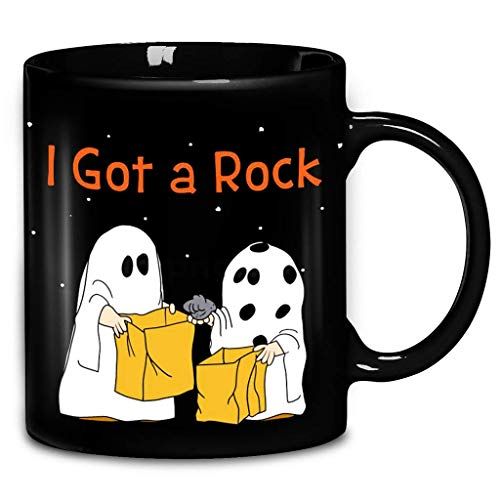 Halloween Great Pumpkin Charlie Brown Ghost I Got A Rock Coffee Mug 11oz Ceramic Tea ()