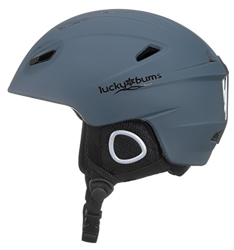 Lucky Bums Powder Series, in-Mold Snow Sport Helmet, Navy, -