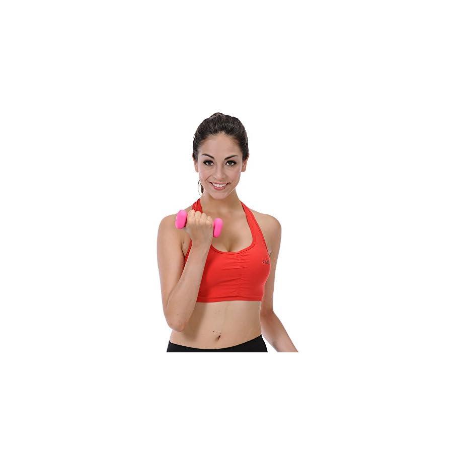 Sunny Health and Fitness Neoprene Dumbbell (2 pounds)